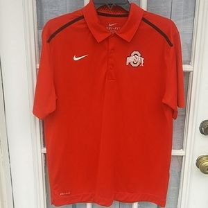 Nike Ohio State dri-fit polo shirt